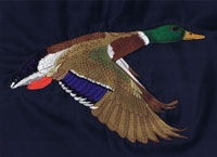 Duck embroidery Ruffwood design