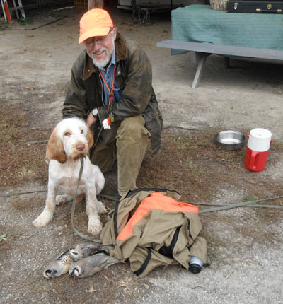 Eli, 4 month old Spinone at Ruffwood Game Farm